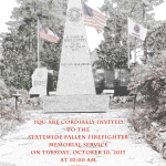Fallen Firefighter Memorial Service October 10th