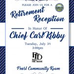 Chief Carl Kibby Retirement Reception