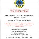 Senior Programmer Analyst Job Vacancy
